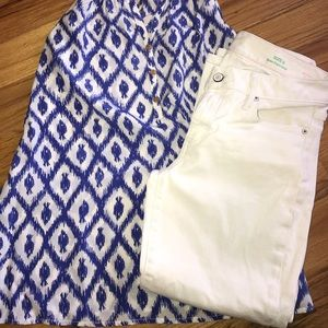 Lilly Pulitzer 6 White ankle jean traditional fit